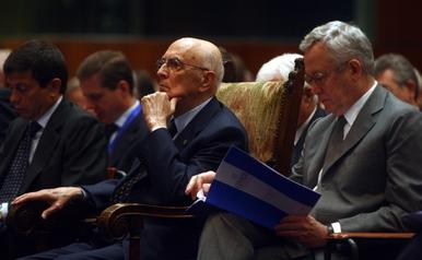 Giorgio Napolitano e Giulio Tremonti