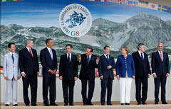 I presidenti membri del G8
