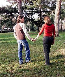 Una giovane coppia inglese