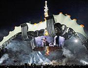 Il palco del concerto