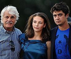 Michele Placido con Riccardo Scamarcio e Jasmine Trinca