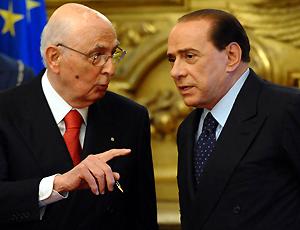 Berlusconi e il Presidente Napolitano