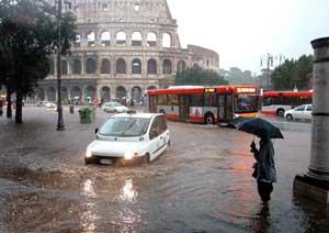 Maltempo a Roma